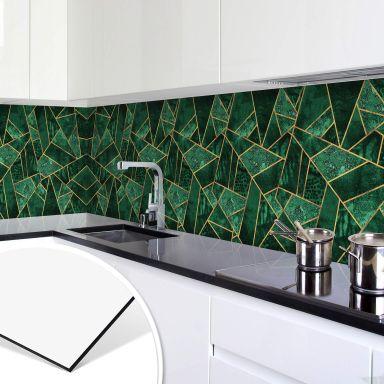 Küchenrückwand Fredriksson - Dunkelgrüner Smaragd