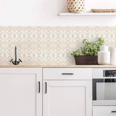 Rivestimento cucina Fredriksson - Geometrie oro