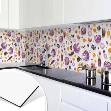 Küchenrückwand - Alu-Dibond - Frisches Gemüse 02