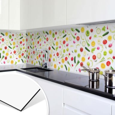 Küchenrückwand - Alu-Dibond - Frisches Gemüse 01 - Panorama