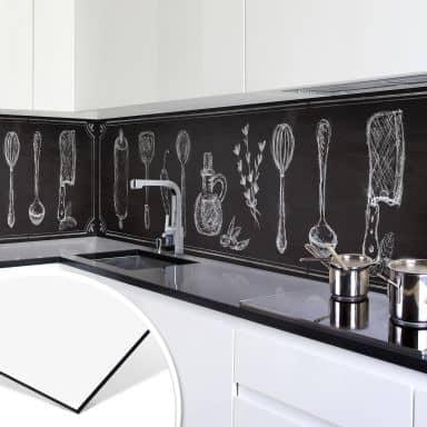 Revêtement pour cuisine - Alu-Dibond -Rustic Kitchen