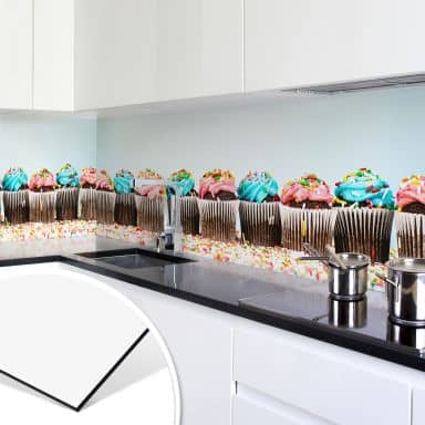 Küchenrückwand - Alu-Dibond - Party Cupcakes