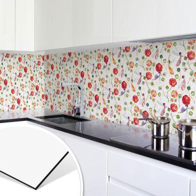 Küchenrückwand - Alu Dibond - Blanz - Rosenzauber
