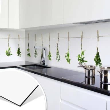 Rivestimento cucina in Alu-Dibond  Erbe aromatiche