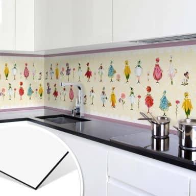 Küchenrückwand  - Alu Dibond  -  Leffler - Blütenelfen