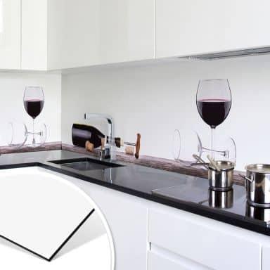 Rivestimento per cucina in Alu-Dibond – Vino rosso