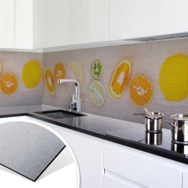 Keukenachterwand - Alu-Dibond Zilver - Limonade Recept