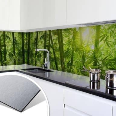 Küchenrückwand - Alu-Dibond-Silber - Sonnenschei
