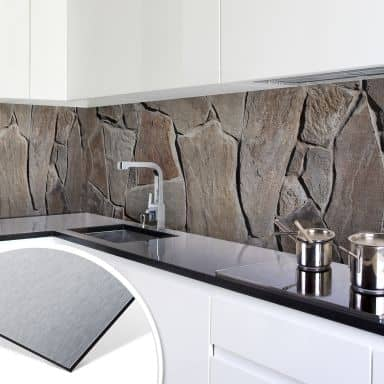 Küchenrückwand - Alu-Dibond-Silber - Mediterrane