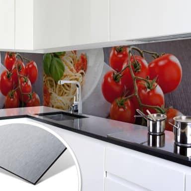 Küchenrückwand - Alu-Dibond-Silber - Pasta Itali