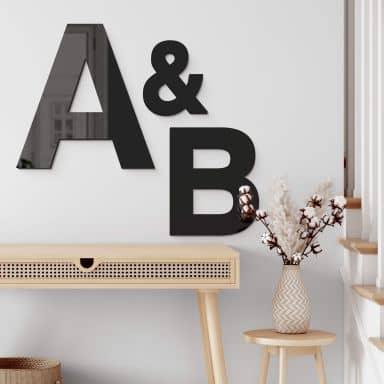 Acrylbuchstaben - Einzelbuchstaben Swiss