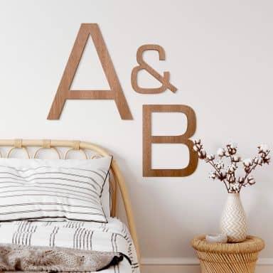 Lettere in legno - Eurostile