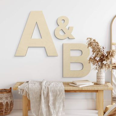 Lettere di legno  - Font Swiss