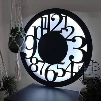 Decorazione luminosa a LED - Orologio moderno