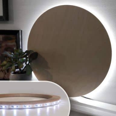 LED-Leuchtring für indirekte Beleuchtung Ø26 cm