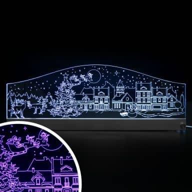 Decorazione LED - Skyline Natalizio