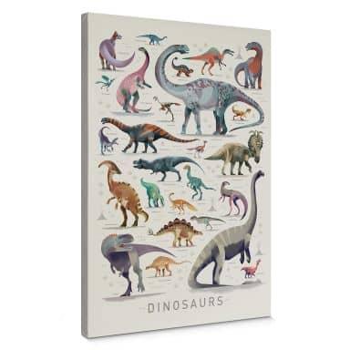 Canvas Braun - Dinosaurs