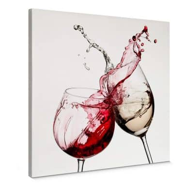 Wine Glasses - squared Canvas print