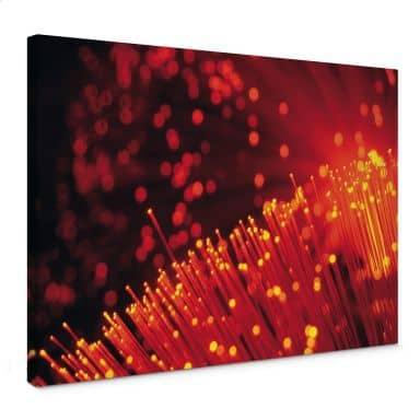 Leinwandbild Lichtfasern abstrakt