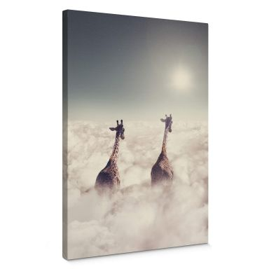 Canvas Print Loose - Giant Giraffes