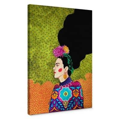 Leinwandbild Hülya - Frida im Portrait