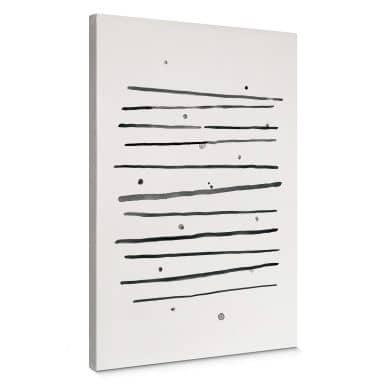 Leinwandbild Nouveauprints - Pünktchen und Streifen