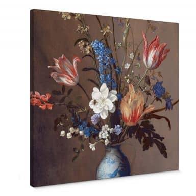 Canvas van der Ast - Bloemen in een Wan-Li Vaas