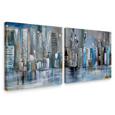 Fedrau - Skyline Canvas print (2 parts)