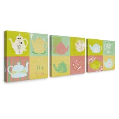 Canvas Print Blanz – Tea Time (3 parts)