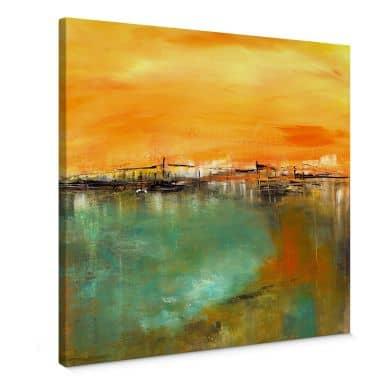 Leinwandbild Niksic - Am Wasser