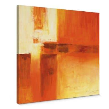Leinwandbild Schüßler - Composition in Orange and Brown