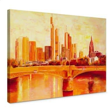 Leinwandbild Schüßler - Skyline Frankfurt