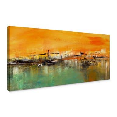 Niksic - On the Waterfront  - Panorama Canvas print