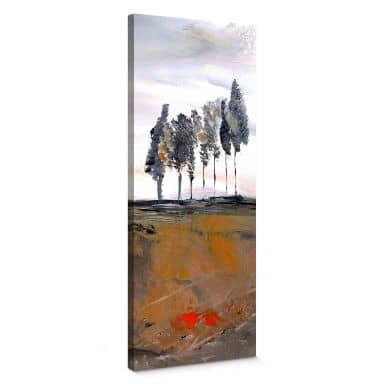Niksic - Trees Canvas print panorama