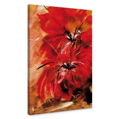 Leinwandbild Niksic - Feuerblumen