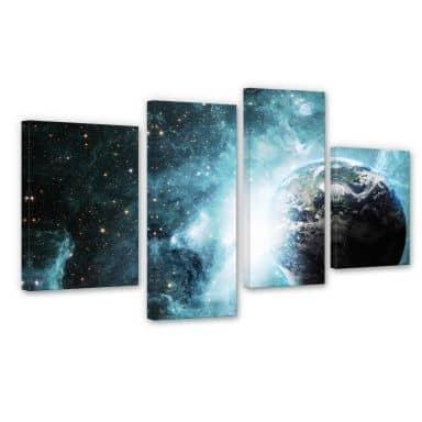 Leinwandbild In einer fernen Galaxie (4-teilig)
