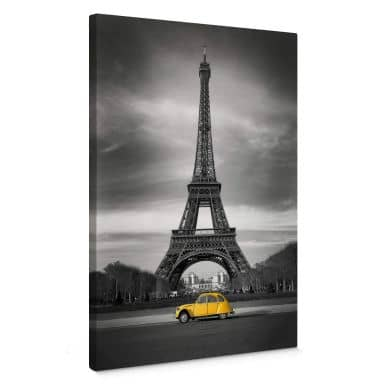 La Vie est Belle - yellow Canvas print