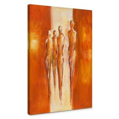 Schüßler - Four Characters in Orange 02 Canvas print
