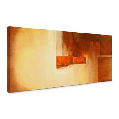 Schüßler - Orange-Brown Balance Canvas print