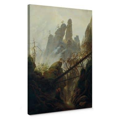 Leinwandbild Friedrich - Felsenschlucht