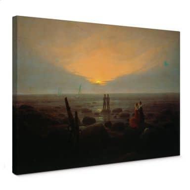 Leinwandbild Friedrich - Mondaufgang über dem Meer