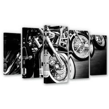 Motorcycle Wheels (5-parts) Canvas print