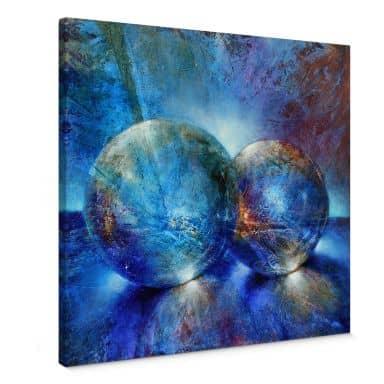 Leinwandbild Schmucker -  Zwei blaue Murmeln
