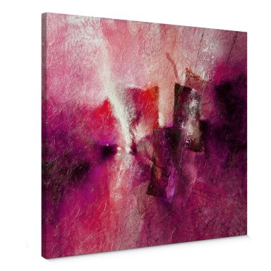Leinwandbild - Schmucker - Abstrakte Komposition in Magenta