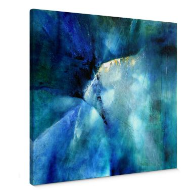 Leinwandbild Schmucker - Komposition in blau