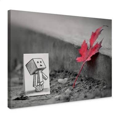 Canvas Heine - Pencil vs. Camera - Red Leaf