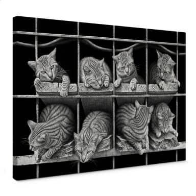 Leinwandbild Heine - Die Katze
