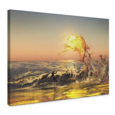 Canvas Print Aerroscape - Fire Surfer