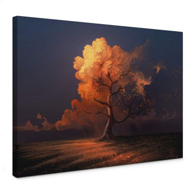 Leinwandbild aerroscape - Später Herbst