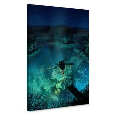 Leinwandbild aerroscape - Unterwasser Galaxie